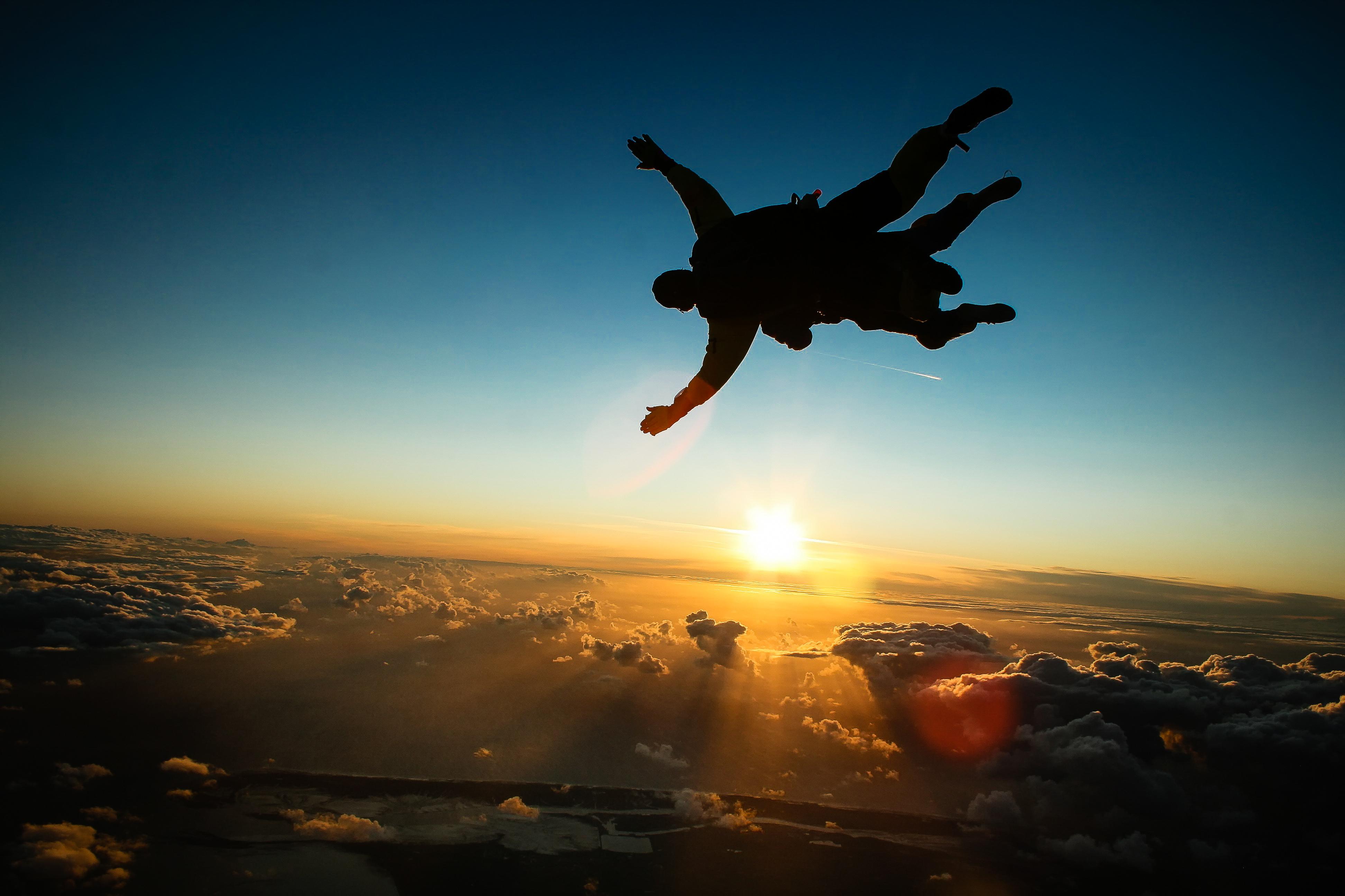 skydiving wallpaper sunset free - photo #4
